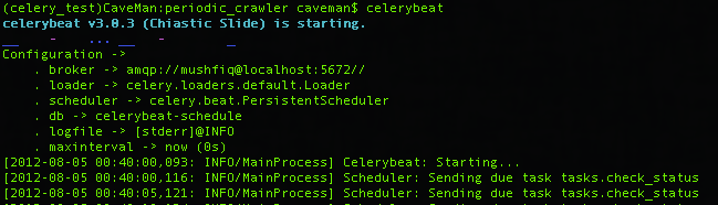 Build Periodic crawler with Celery | Caveman's Web Log